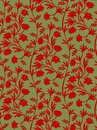 Seamless pattern russian ornament floral Royalty Free Stock Image