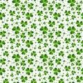 Seamless pattern with Saint Patricks shamrock leaves Royalty Free Stock Photo