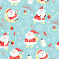 Seamless pattern santa claus Stock Photo