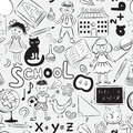 Seamless pattern with school theme Royalty Free Stock Photos