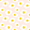Seamless pattern with scrambled eggs Royalty Free Stock Photo