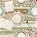 Seamless pattern, scrapbook elements Royalty Free Stock Photo