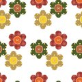 Seamless pattern with scrapbook flowers Stock Images