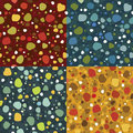 Seamless pattern set Stock Image