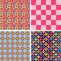 Seamless pattern set Royalty Free Stock Photography