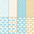 Seamless pattern set with hand drawn sketchy envelopes. Backround with doodled envelopes. Minimalistic backgrounds. Hand