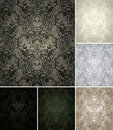 Seamless Pattern set of six colors Royalty Free Stock Photos