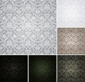 Seamless Pattern set of six colors Stock Images