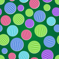 Seamless pattern set with striped balls Royalty Free Stock Images