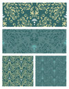 Seamless pattern set vector eps a of floral in different colors editable Royalty Free Stock Photos