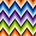 Seamless pattern with several colors zigzag elemen