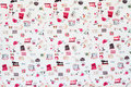 Seamless pattern sewing accessories fabric background useful for textures and Royalty Free Stock Photos