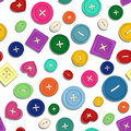 Seamless pattern of sewing buttons colorful Stock Photos