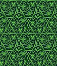 Seamless pattern with shamrock Royalty Free Stock Photo