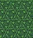 Seamless pattern with shamrock Royalty Free Stock Photo