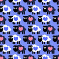 Seamless pattern with sheep Royalty Free Stock Image