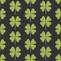 Seamless pattern with a simple leaf of clover