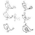 Seamless pattern. Singing birds