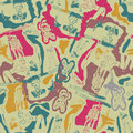 Seamless pattern with sketches of people Stock Photography