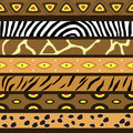 Seamless pattern with the skins of african animals and tracery Royalty Free Stock Image