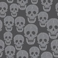 Seamless pattern with skull Stock Photography