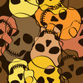 Seamless pattern of skulls abstract funny Stock Photos