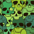 Seamless pattern of skulls funny Royalty Free Stock Photo