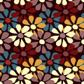 Seamless pattern of small colored flowers Royalty Free Stock Photo