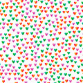 seamless pattern with small colorful hearts