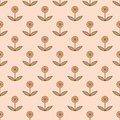 Seamless pattern with small decorative flowers vector illustration Royalty Free Stock Photography