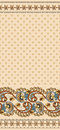 Seamless pattern with small flowers decorated with wide border Royalty Free Stock Photo
