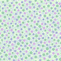 Seamless pattern with small gentle daisy flowers in pink, green
