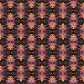 Seamless pattern, small orange curls on a black background Royalty Free Stock Photo