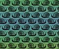 Seamless pattern Snails Royalty Free Stock Photography