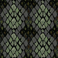 Seamless pattern of snake skin grey and green Stock Photo