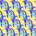 Seamless pattern with snowdrops creative. vector illustration