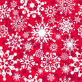 Seamless pattern with snowflakes Stock Photos