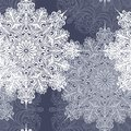 Seamless pattern with snowflakes vector beautiful Royalty Free Stock Photography