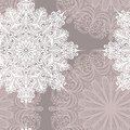 Seamless pattern with snowflakes vector beautiful Stock Photography