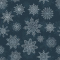 Seamless pattern with snowflakes vector illustration Stock Images