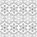Seamless pattern from snowflakes.Winter background. Christmas template Royalty Free Stock Photo