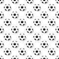 Seamless pattern with soccer balls on white background. Football