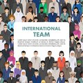 Seamless pattern social, teamwork and business team concept of people communication in flat style. Group of businessmen