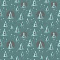Seamless pattern with space ship.