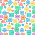 Seamless pattern speech bubbles social network