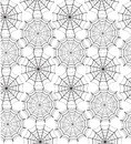 Seamless pattern with spiders' web Stock Images