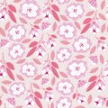 Seamless pattern with spring flowers in bloom