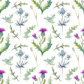 Seamless Pattern With Spring F...