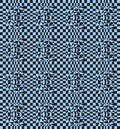 Seamless pattern with square triangular elements black blue. Royalty Free Stock Photo