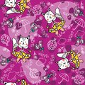 Seamless pattern with squirrels, lollipops, trees and clouds.